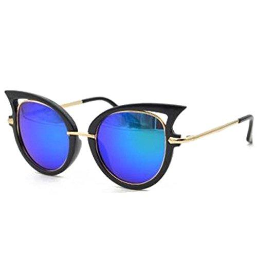 QingFan Women Men Summer Vintage Retro Cat Eye Glasses Unisex Fashion Sunglasses Kids Metal Frame (D, - Glasses Sale Eye For Cat Vintage