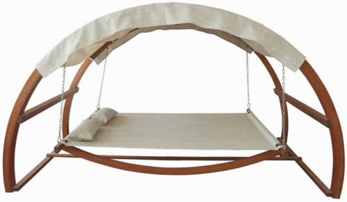 Double Arched Wooden Hammock Outdoor product image