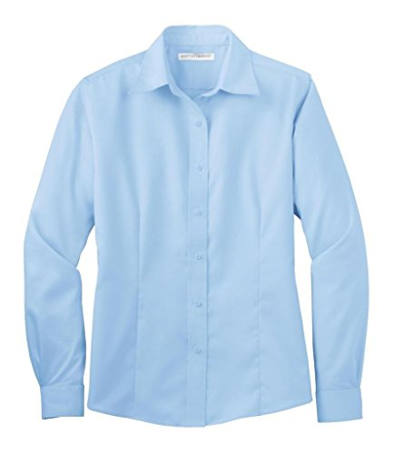 Port Authority Womens Long Sleeve Non-Iron Twill Shirt L638 -Sky Blue M
