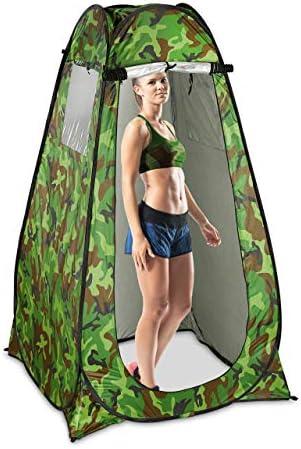 Relaxdays Douchetent popup statent voor camping tuin outdoor kleed en wctent 200 x 120 x 120 cm camouflage
