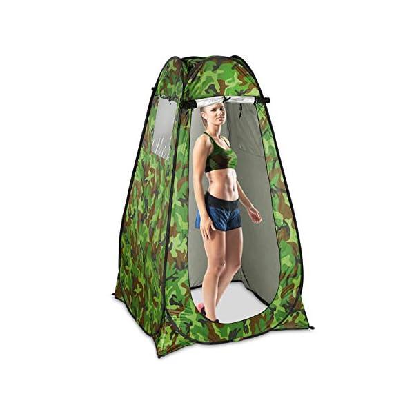 410zTqfU0FL Relaxdays Duschzelt, Pop Up Stehzelt für Camping, Garten & Outdoor, Umkleide- & WC-Zelt, 200 x 120 x 120 cm, Camouflage