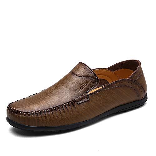 vera ZHRUI Rosso Morbida Dimensione scarpe uomo EU 40 Colore Moda in traspiranti mocassini pelle per Cachi suola da guida 6qrxA6w