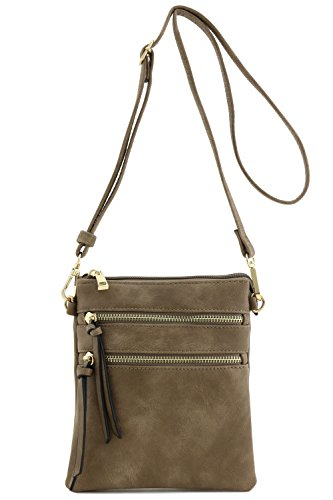 (Functional Multi Pocket Crossbody Bag (Taupe) )