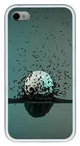 Pearl TPU Custom Design iPhone 4/4S Case Cover - White