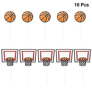 Amazon.com: LUOEM 10Pcs Basketball Cake Toppers Birthday
