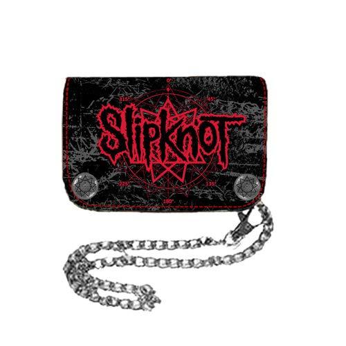 (Slipknot - Star Hinge Wallet Chain Wallet In Black, O/S, Black)