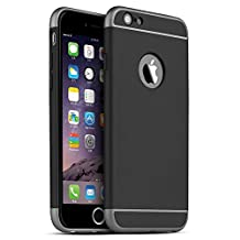 iPhone 5S Case, iPhone SE Case, iPhone 5 Case, SAUS 3 in 1 Ultra Thin and Slim Design Coated Premium Non Slip Surface with Excellent Grip Case Fit for Apple iPhone 5 / 5S / SE (Black)