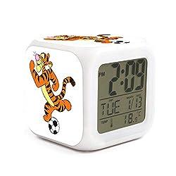 xinjinmaoyi Fashion Non Ticking Easy to Read Desktop Alarm Clock for Room Helpful for Children