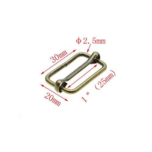 Metal Slides Tri-Glides Wire-Formed Roller Pin Buckles Strap Slider Adjuster Buckles (1
