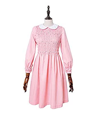 Miccostumes Girl's Pink Eleven Cosplay Dress Costume (women xs)