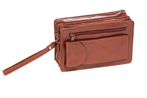 Borsello da uomo LEAS, Vera Pelle, cognac - ''LEAS Men's Bags''