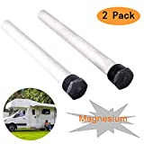 """Wadoy 232767 Magnesium Anode Rod for RV Water Heater,Fits Suburban and Mor-Flo Water Heaters -3/4"""" NPT Threads 9.25"""" Long(2 Pack)"""