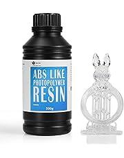 WEISTEK Resina 3D Resina UV 405nm Resina de fotopolímero rápido similar a ABS para impresora LCD 3D 500g (Transparente)