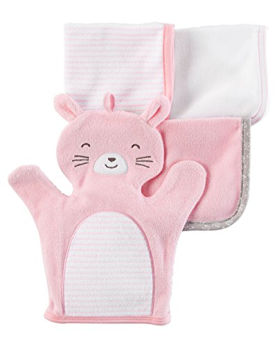 4 Pack Washcloths (Carter's Baby 4-pack Bunny Washcloths)