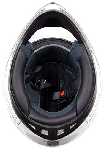 Dual Sport Helmet Combo w/Gloves - Off Road Motocross UTV ATV Motorcycle Enduro - Silver, Black - XXL by Typhoon Helmets (Image #6)