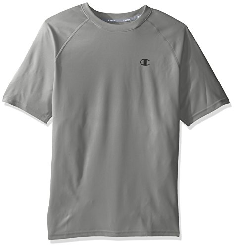 Champion Men's Vapor Select Tee with FreshIQ, Oxford Gray, L
