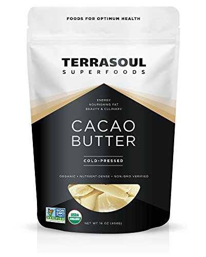 Terrasoul Superfoods Organic Cacao Butter, 1 Pound (Raw, Keto, Vegan Friendly) (Butter Cocoa Edible)