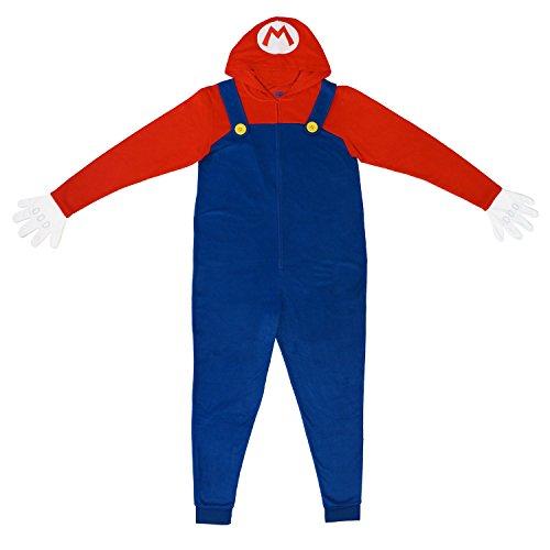 Nintendo Mario Men's Pajama Union Suit L/XL -