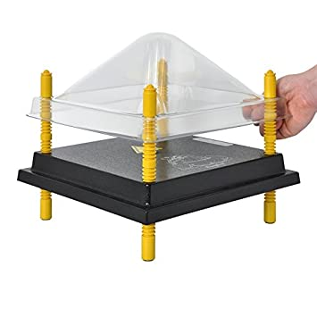 Tapa protección de plato calentador para cría de pollos, 30x30cm, PET