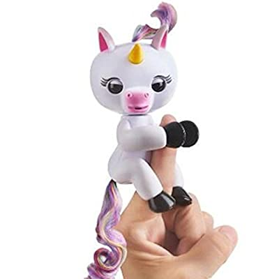 Interactive Baby Unicorn, VESNIBA New Hot Sale Little Baby Fingerlings Pet Electronic Gigi Unicorn Children Kids Toy (X-White with Multicolor Hair) by VESNIBA