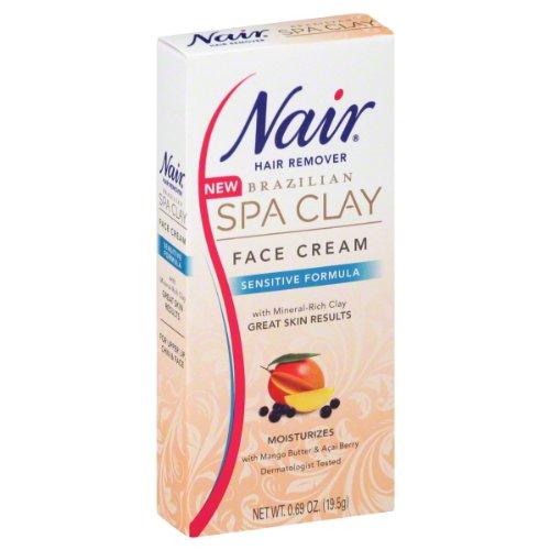 Nair Brazilian Spa Clay Sensitive Face Hair Removal Cream