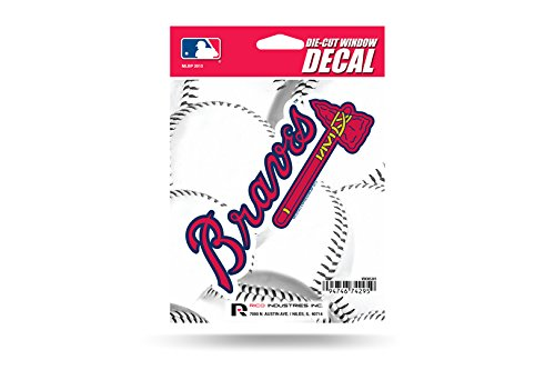 Mlb Braves Atlanta Decal (MLB Atlanta Braves Die-Cut Window Decal)