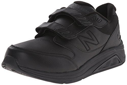 New Balance Men's MW928V2 Hook&Loop Walking Shoe-M, Black, 8.5 D US