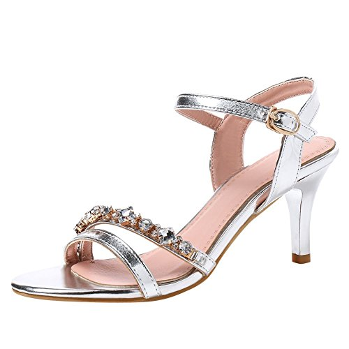 Elegant Sandal Punta Donna MissSaSa Argento 6YxtAw