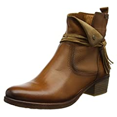 Always be in season with the Pikolinos® Zaragoza W9H-8800. Semi-vegetable tanned leather upper. Interior zipper closure.  Eye catching fringe tie accent. Breathable leather and textile lining. Gel-foam padded footbed. Synthetic outsole. Stac...