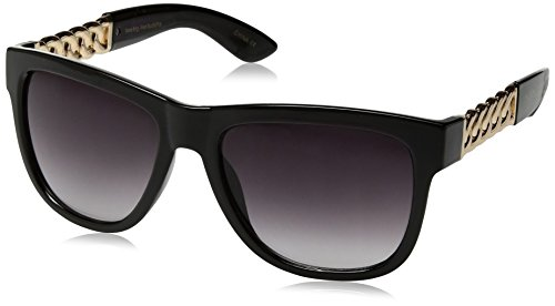 Big Buddha Women's Lulu Rectangular Sunglasses, Black, 56 - Sunglasses Big Buddha