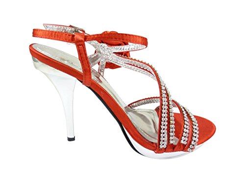 Chaussmaro - sandalias mujer , color Rojo, talla 36