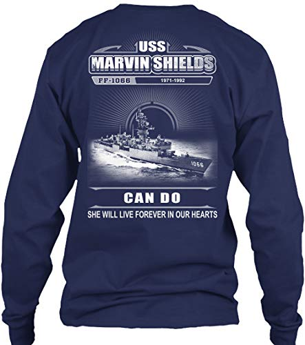 (USS Marvin Shields (FF-1066) - Long Sleeve - Get It Now! Navy)