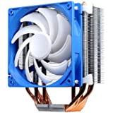 Silverstone Tek Argon Series CPU Cooler with 120mm Cooling Fan for Socket LGA775/1155/1156/1366/2011, AM2/AM3/FM1/FM2, White AR03