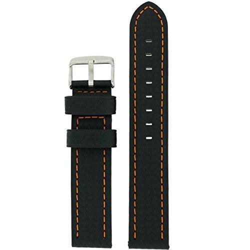 bon Fiber Orange Stitching Water Resistant (18mm, 20mm, 22mm, 24mm) ()