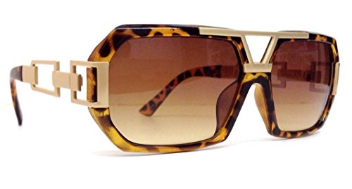 Tortoise Brown & Gold Gazelle Chain Sunglasses - Brown Gradient - Gazelle Shades