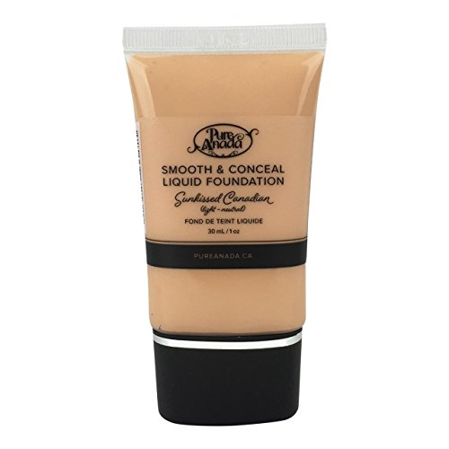 Pure Anada Natural Liquid Foundation - Sunkissed Canadian - Smooth and Conceal - 1 Ounce