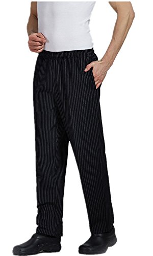 XinAndy High End Unisex Grandmaster Chef Pants Pinstripe Style by XinAndy Chef
