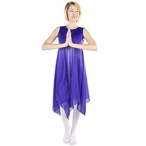 Danzcue Womens Worship Praise Dance Pullover Vest, Deep Purple, S/M
