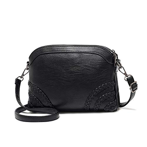 - Crossbody Bag for Women Small Leather Phone Purse Wallet Shoulder Bag Trendy Ladies Wristlet Clutch (Black b)