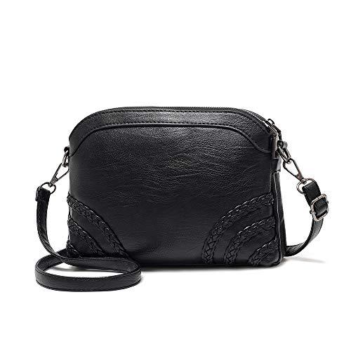 Crossbody Bag for Women Small Leather Phone Purse Wallet Shoulder Bag Trendy Ladies Wristlet Clutch (Black b)