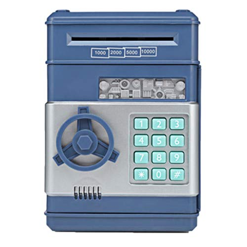 OutTop(TM) Children Kids Code Electronic Piggy Banks Mini ATM Electronic Coin Bank Password Money Coin Bank Safe Box for Children Fun Toy (Blue)