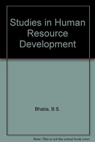 Studies in Human Resource Development