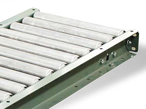 "Steel Gravity Roller Conveyor - 10' Length - 16""BF, 18"" OAW, 1.4"" Rollers on 6"" Centers - 10' Length - Steel Frame"