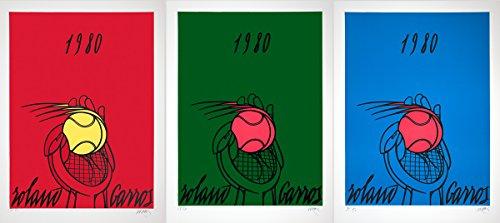 Valerio Adami Roland Garros Rouge  Vert  Bleu  Red  Green  Blue  1980  Signed