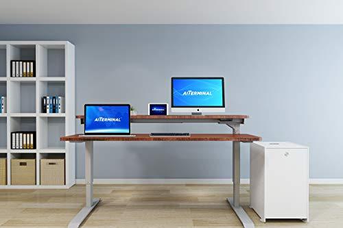 AITERMINAL Split Top Electric Stand Up Desk Single Motor-Height Adjustable Desk (59