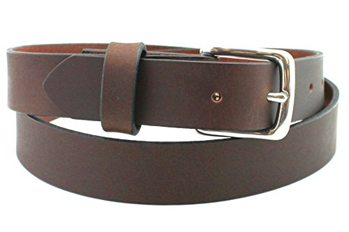 Soft Chestnut Stainless Men's Leather Belt Full Grain Solid Custom Hand Made USA 1.25 and 1.5 Inch (Filson Leather Belt compare prices)