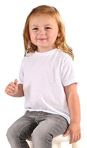 sublivie-drop-ship-toddler-polyester-t-shirt-4t-white