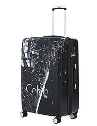 Calvin Klein LH818MT7 Manhattan 3.0 Hardside Upright Luggage, Black, Checked – Large