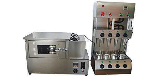 Commercial Pizza Cone Forming Making Maker Machine With Rotational Pizza Oven 110V