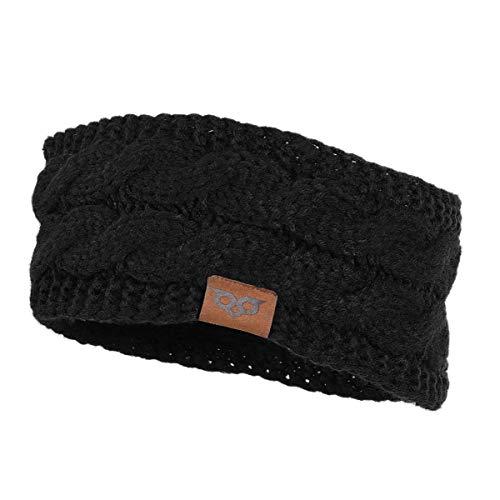 51e11b84237 YOOWL Winter Beanie Headwrap Hat Cap Fashion Stretch Twisted Cable Knit  Fuzzy Lined Ear Warmer Headband